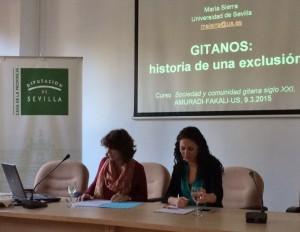 María Sierra con María García en el curso de AMURADI/US